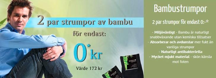 gratis strumpor bambu