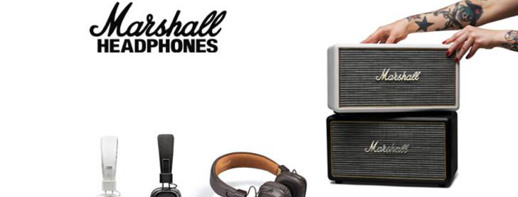 marshall hörlurar högtalare rabatt