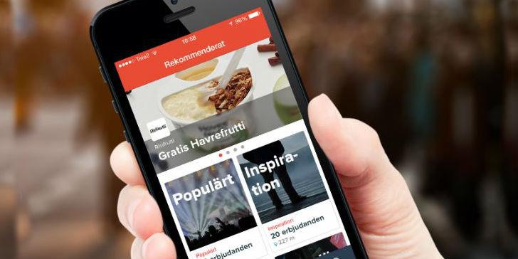 En app med rabatter