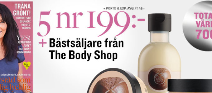 Spara hela 500 kr på Tara och The Body Shop