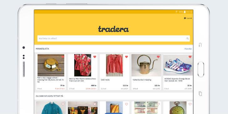 Sälj gratis på Tradera