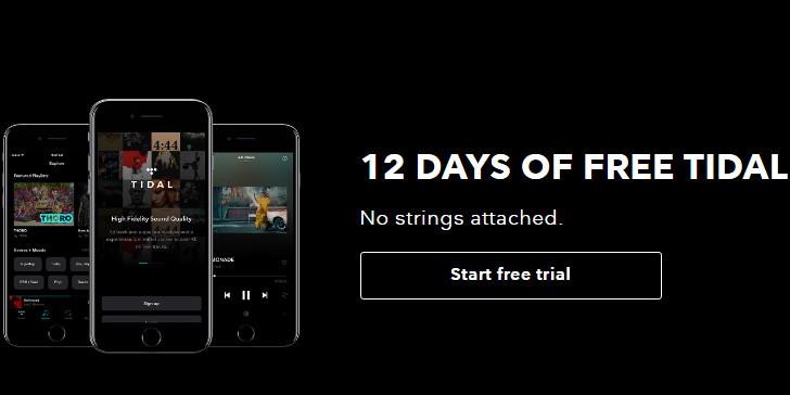 gratis musik med tidal