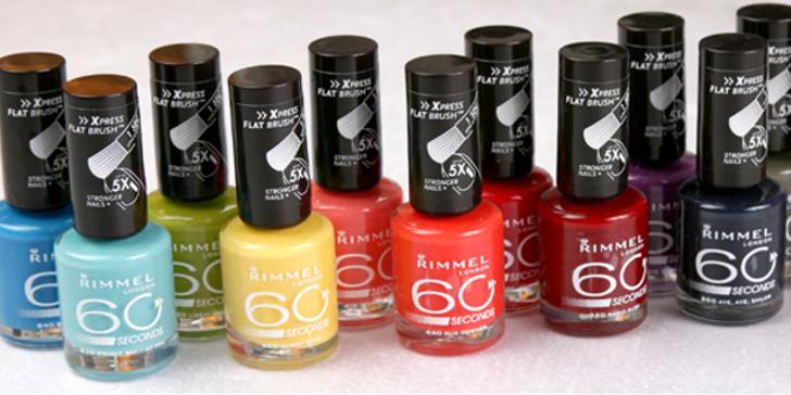 rimmel nagellack torkar på 60 sekunder