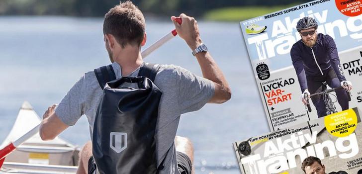 friluftsliv med vattentät ryggsäck